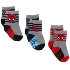 Spider-Man Baby Toddler 3 pack Gripper Athletic Socks SPU1477