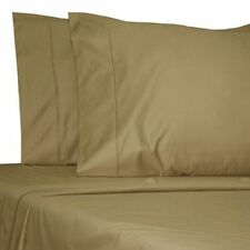 Egyptian Cotton 800 1000 TC Taupe Solid & Striped US Bedding Set's All Size