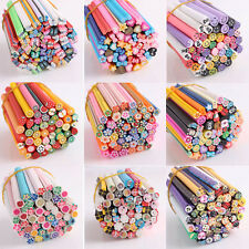 Pretty 50PCS Stylish Nail Art Fimo Canes Rods Lady Stickers Tips 3D Decoration