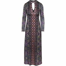 Free People Cabaret Maxi Long Sleeve Dress Sunrise Combo Sz M $168 NWT