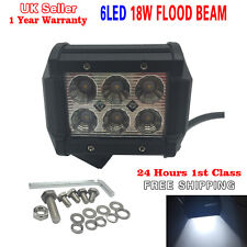 18W CREE LED Bar Flood Light Working Lamp Offroad Car Truck Boat Jeep SUV 4WD UK