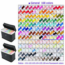 Colors Sets Touch Five Alcohol Graphic Art Twin Tip Pen Markers Broad Fine Point