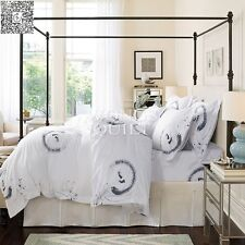 100% Cotton White Twin Full Queen King Size Duvet/Quilt Cover Bedding Set 4PCS