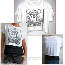 Junk Food Keith Haring Mouse & Money Easy Crop t-shirt Light Weight Soft Jersey