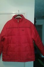 red FILA padded jacket in a xl but fits as large
