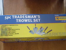 5PC TRADESMAN TROWEL SET PLASTERING BRICK LAYING POINTING BUILDERS TOOLS NEW