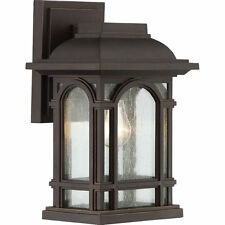 Quoizel CAT8407PN One Light Outdoor Sconce with Clear Water Glass