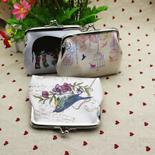 Fashion Owl Bird Flower Wallet Card Holder Case Coin Purse Clutch Retro Handbag