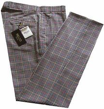 Relco Mens Beige Tweed Stay Press Trousers Size 32 to 42 Sta Press Golf Trousers