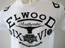 ELWOOD Mens Toros Premium Top Tee T-Shirt  Size M L XL XXL fox white