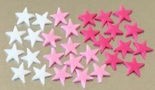 Edible icing mixed colour mini Star cupcake toppers cake decorations