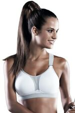 Anita Active Wirefree Max Support Racerback Sports Bra 5537 White/Metallic