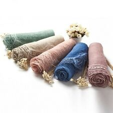 Fashion Women Cotton Linen Scarf Fold Scarve Curly Shawl Accessory Multi-color