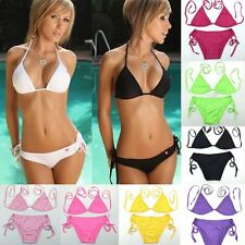 Women Bikini Top Bottom Set Beach Swimsuit Swimwear Triangle 11 Color SW TOP