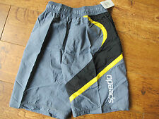 Speedo BARRIER MB LB  26  28  BLACK BLUE RED GREY NAVY  kids junior Swim SHORTS
