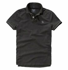 Nwt Abercrombie By Hollister Mens  Muscle Fit Polo Shirt Size S M L XL XXL Black