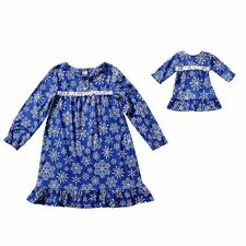 Dollie Me Girl 7 and Doll Matching Snowflake Nightgown Clothes American Girls