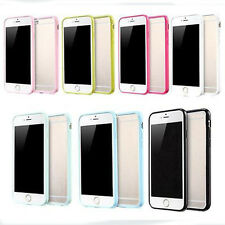 Hard Matte Clear Back Case with Soft Silicone TPU Bumper Cover for iPhone 5s 6sp