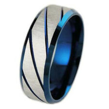 Fashion Man's Stainless Steel Ring Personality Stripe Titanium Steel Rings Hot#