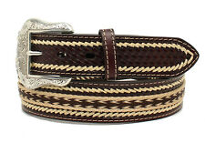 Nocona Western Belt Mens Leather Laced Southwest Mocha Tan N2495602