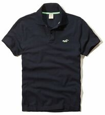 New Hollister By Abercrombie Mens Muscle Fit Short Sleeve Polo Shirt Navy Nwt