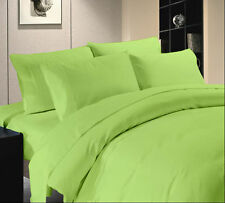 700 TC Hotel Sage Green Solid & Striped 100% Egyptian Cotton All UK Bedding Set