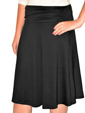 Kosher Casual Women's Modest Knee Length Skirt With Ruched Waistband