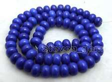 SALE Small 5*8mm Blue Rondelle natural lapis Loose Beads strand 15'' - los682