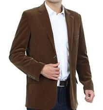 Mens Fashion Slim Fit Casual Two Button Top Blazer Middle Age Jackets Coats Plus