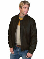 Scully Leather Mens Premium Lambskin Zip Front Jacket Black