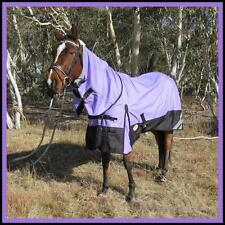 LOVE MY HORSE 5'0 - 6'9 1200D Reflective Fleece Lined Turnout Combo Rug Lav