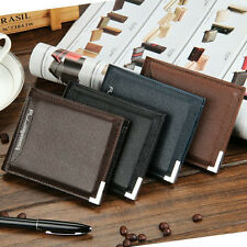Mens Billfold Leather short Wallet holder Clutch Bifold credit Card Purse Pocket