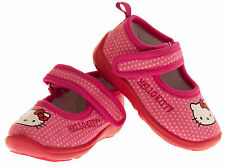 Baby Girls HELLO KITTY Warm Lined Outdoor Sole Mary Jane Slipper Sz Size 4 5 6 7