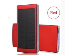 New Top 600000mAh Portable Solar Power Bank Dual USB LED Backup Charger Battery
