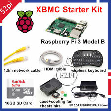 2016 Premium Raspberry Pi 3 XBMC Kit KODI OSMC Media Center Kit Starter Kit