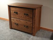 Home Office Lateral Filing Cabinet Solid Oak Queen Anne Style #1036