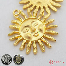 30MM Zinc Alloy Sun Charms Pendants Jewelry Findings Accessories 24139