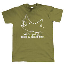 We're Going To Need A Bigger Boat, Mens Fishing T Shirt, Shark Jaws Gift Him Dad