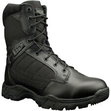 Magnum Mens Black Leather Response II 8In Tactical Boots 1200 Denier