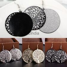 Chic Multi-layer Shiny Frosted Tree of Life Earring Women Party Jewelry Gift