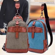 Men Phone Chest Bag Classic Leisure Canvas Youth Fashion Shoulder Backpack