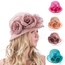 T123 New Womens Kentucky Derby Wedding Sinamay Ascot Church cloche Dress Hat