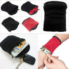 1PC Wrist Wallet Band Wristbands Running Cycling Safe Sport Wallet Accessiories