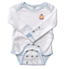 MiracleWear Boys Posheez Snap'n Grow White with Blue Stitch Organic Adjustable L