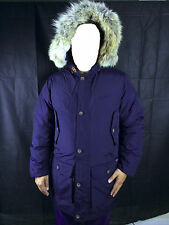 Mens WOOLRICH ARCTIC Parka Navy Blue Jacket 550 Fill Artic Coat SIZE XS S M L XL