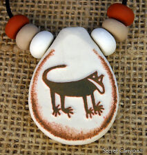 ~MOUNTAIN LION~ Cougar Petroglyph Native American Pendant Handmade With Beads