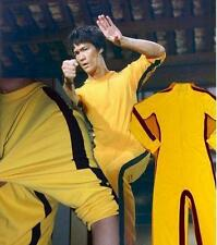 Chinese Bruce Lee Game Of Death Costume Kung Fu Yellow Jumpsuit Uniform stretchy
