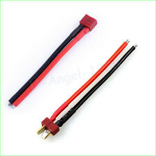 Deans Style T Plug Male Female Connector Silicone Wire With 10CM 14awg wholesale