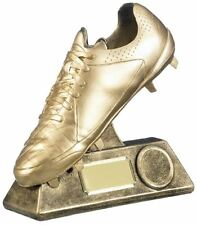 Personalised Football Trophy, Football Boot Sports Trophy Award Prize - ENGRAVED