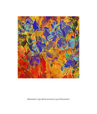 Framed Canvas Art Print Abstract Floral Flowers Square Large Digital Artwork